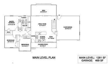 Special select floor plans to control costs landmark for 2 bedroom house plans with attached garage