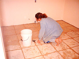 Grouting Tiles