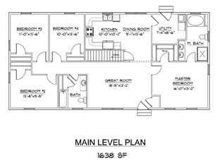 Bed Main Floor  Bedroom Basement Floor Plans